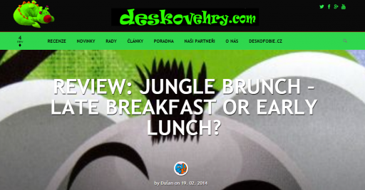 Jungle Brunch english review on deskovehry.com