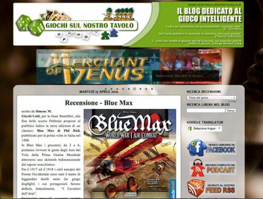 Blue Max Italian review on Giochi sul nostro tavolo